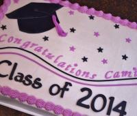 Fuschia and Black Graduation
