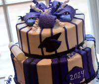Purple and Black Graduation