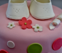 Baby Shoes Pink and Green