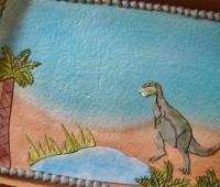 Dinosaur Sheet Cake