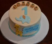 First Birthday Elephant and Giraffe