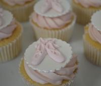 Ballerina Slipper Cupcakes