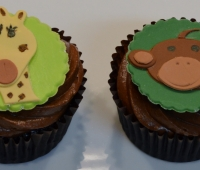 Jungle Animal Faces Cupcakes