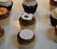 Sports balls mini cupcakes