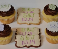 Bridal Shower Cookies and Cupcakes